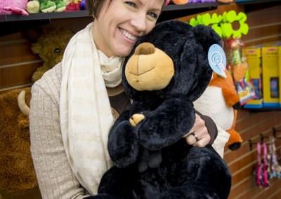 Kim with Bear